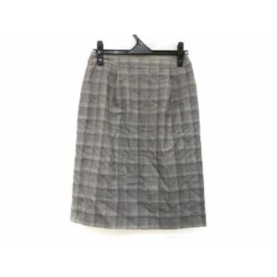 タエアシダ TAE ASHIDA スカート サイズ9 M レディース 美品 黒×グレー【中古】20201222