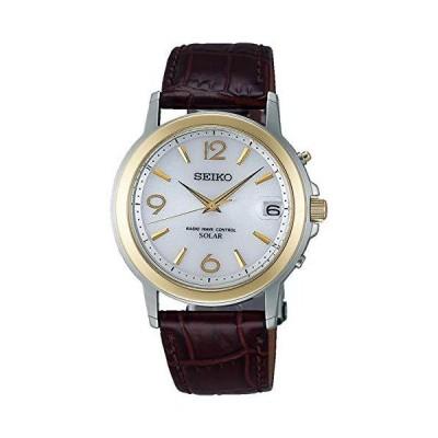SEIKO セイコー SPIRIT スピリット ソーラー電波 メンズ 腕時計 SBTM192 革バンド (革バンド 焦げ茶)
