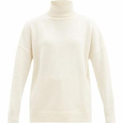 ロエベ Loewe レディース ニット・セーター トップス Ribbed roll-neck cashmere sweater Ivory