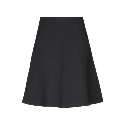ツインセット シモーナ バルビエリ TWINSET ひざ丈スカート ブラック 38 ポリエステル 53% / ウール 43% / ポリウレタン 4%