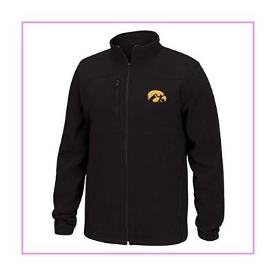 NCAA Iowa Hawkeyes Men's Quest Brushed Poly Jacket, Black, Medium【並行輸入品】