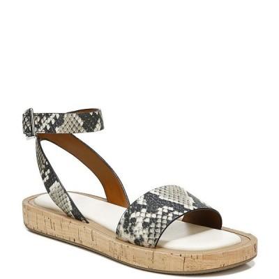 フランコサルト レディース サンダル シューズ Eden Snake Print Leather Ankle Strap Sandals Roccia Matte Classic Snake