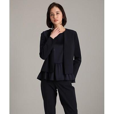 <INED L(Women/大きいサイズ)/イネドL> 《大きいサイズ》ノーカラータックジャケット コン【三越伊勢丹/公式】