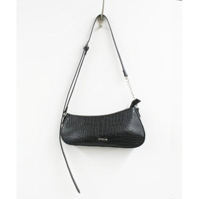 VITA ROSA / EMODA/エモダ クロコダイル型押しアシンメトリーショルダーバッグ WOMEN バッグ > ショルダーバッグ