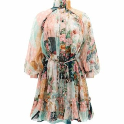 ジマーマン Zimmermann レディース ワンピース ワンピース・ドレス Floral Dress With Belt Pink