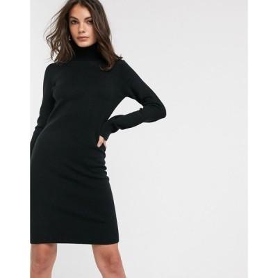 フレンチコネクション レディース ワンピース トップス French Connection Babysoft rollneck sweater dress in Black Black