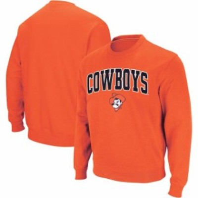 Colosseum コロセウム スポーツ用品  Colosseum Oklahoma State Cowboys Orange Arch & Logo Crew Neck Sweatshirt