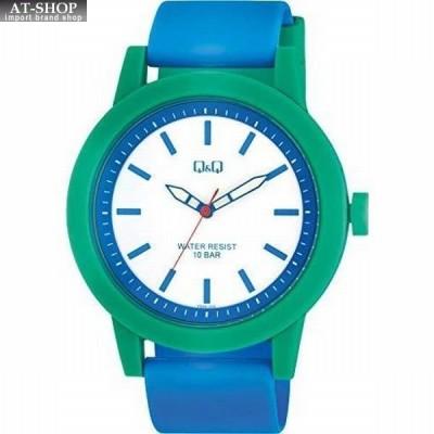 シチズン 腕時計 CITIZEN Q&Q 10気圧防水 メンズ スポーツウォッチ VS56-002 ブルー/ホワイト