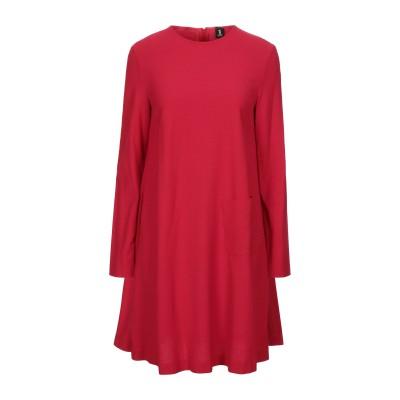 1-ONE ミニワンピース&ドレス レッド 44 レーヨン 70% / バージンウール 28% / ポリウレタン 2% ミニワンピース&ドレス