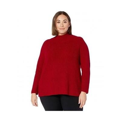 Eileen Fisher アイリーンフィッシャー レディース 女性用 ファッション セーター Plus Size Turtleneck Raglan Box Top - Ruby