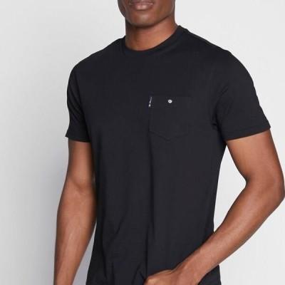 ベンシャーマン メンズ ファッション SIGNATURE POCKET TEE - Basic T-shirt - black