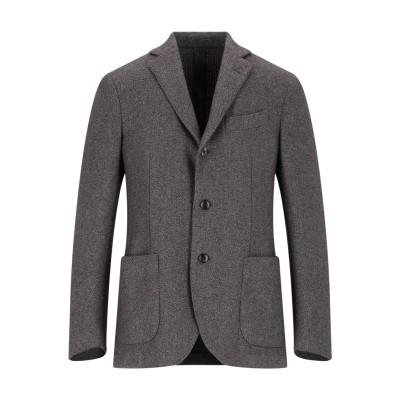 ラルディーニ LARDINI テーラードジャケット ブラウン 50 ウール 48% / ポリエステル 39% / コットン 13% テーラードジャケ