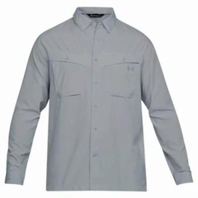 アンダーアーマー シャツ UA Tide Chaser LS Shirt Overcast Grey / Steel