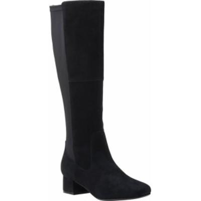 クラークス レディース ブーツ・レインブーツ シューズ Women's Clarks Marilyn Abby Knee High Boot Black Suede
