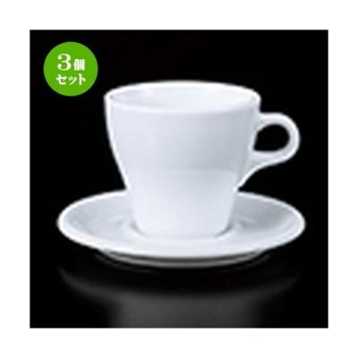 3個セット 碗皿 洋食器 / 9303ラテカップC/S 寸法:皿 14.7 x 1.7cm