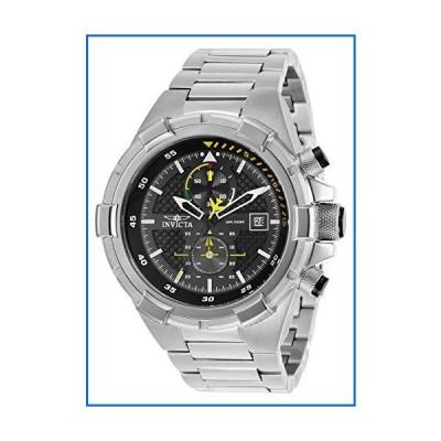 Invicta Men's Aviator Steel Bracelet & Case Quartz Black Dial Analog Watch 28108[並行輸入品]