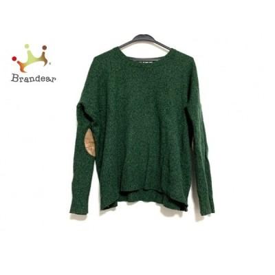ツモリチサト 長袖セーター サイズ2 M レディース 美品 グリーン×ネイビー×ブラウン cat's  値下げ 20200517