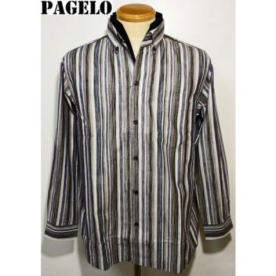 パジェロ SALE イタリアンカラーOPシャツ L 81-1301-07 PAGELO