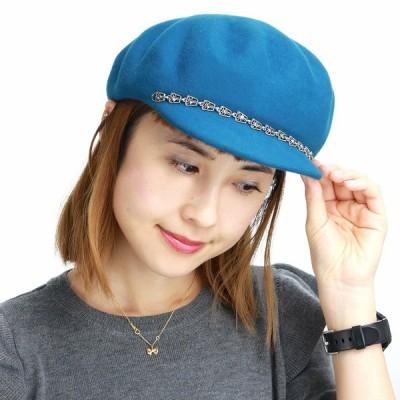 秋冬 イタリア製 帽子 キャスケット レディース GALLIANO SORBATTI キャスケット帽 フェルト ガリアーノ ソルバッティ ターコイズ