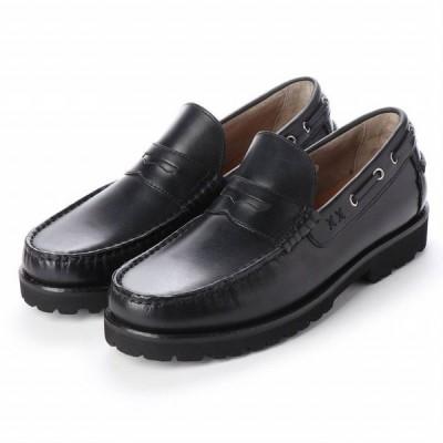 マドラス  madras アビーロード ABBEY ROAD AB7524 軽量 本革 カジュアルシューズ 抗菌消臭 メンズ モカシン シューズ マッケイ製法 革靴 靴 ブラック