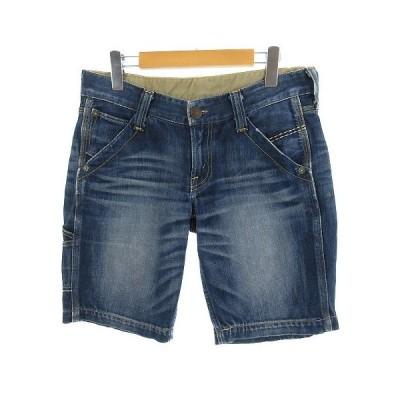 【中古】リーバイス Levi's パンツ ショートパンツ デニム ビンテージ加工 ブルー 青 M レディース【ベクトル 古着】