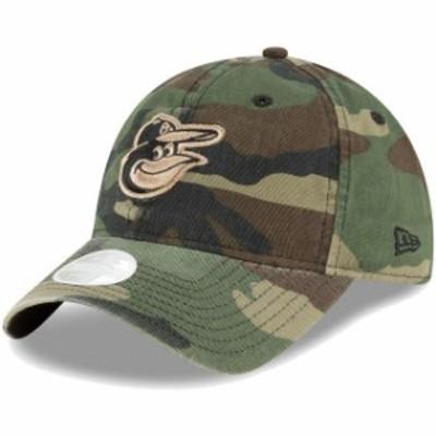 New Era ニュー エラ スポーツ用品  New Era Baltimore Orioles Womens Camo Core Classic Twill 9TWENTY Adjustable Hat