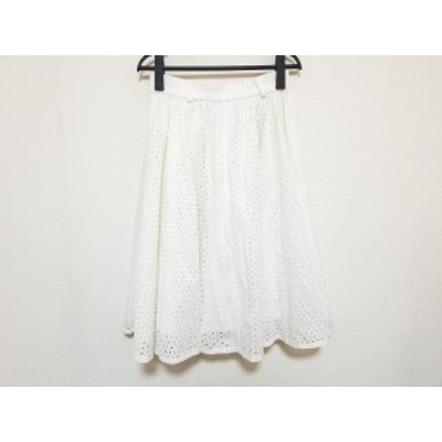 エムズグレイシー M'S GRACY スカート サイズ40 M レディース 美品 白 フラワー【中古】20210121