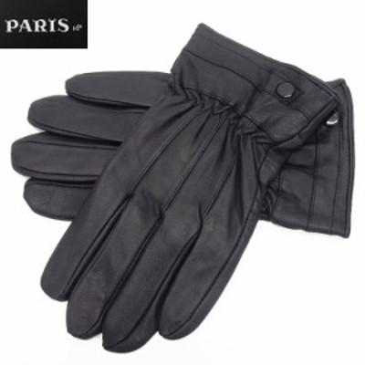 ◆手袋◆PARIS16e 羊革/シープスキン 黒 メンズ グローブ メール便可 LAM-N06-BK