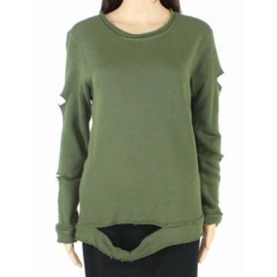 ファッション トップス Good hYOUman Womens Sweater Green Size Small S Pullover Distressed
