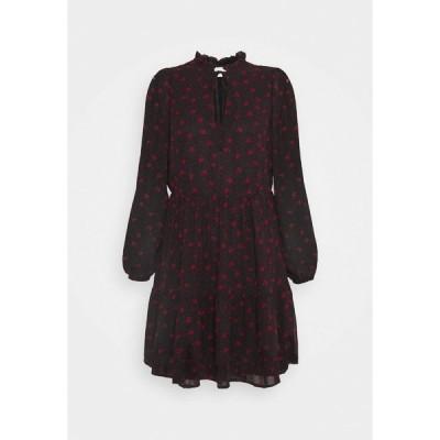 ヴィラ プティ ワンピース レディース トップス VIPLISSEAMESY DRESS - Day dress - black