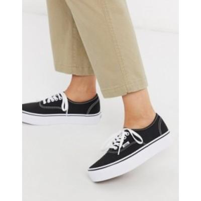 バンズ レディース スニーカー シューズ Vans Authentic Platform 2.0 sneakers in black Black