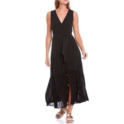 サンクチュアリー レディース ワンピース トップス Perfect Melody V-Neck Sleeveless Tie Waist Midi Dress