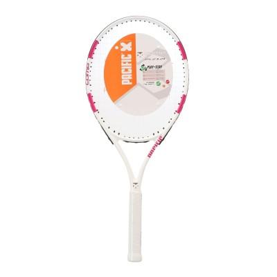 PACIFICテニスジュニア 硬式用ラケット COMP25 PCJ-9253 WHTPNK.ホワイト×ピンク