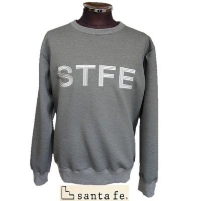 サンタフェ(santa fe)・ダブルエアー フロントロゴトレーナー スウェットシャツ