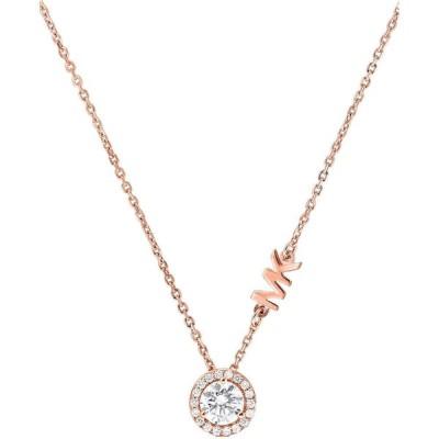 マイケル コース Michael Kors ユニセックス ネックレス ジュエリー・アクセサリー Sterling Silver Cubic Zirconia Pendant Necklace Rose Gold
