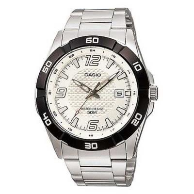 腕時計 カシオ Casio MTP1292D-7A メンズ スタンダード 50M スポーツ アナログ メタル バンド ホワイト ダイヤル 腕時計
