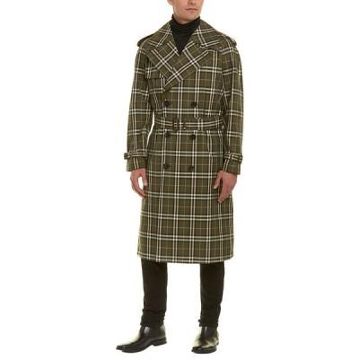 バーバリー コート アウター メンズ Burberry Reversible Tropical Gabardine Coat green