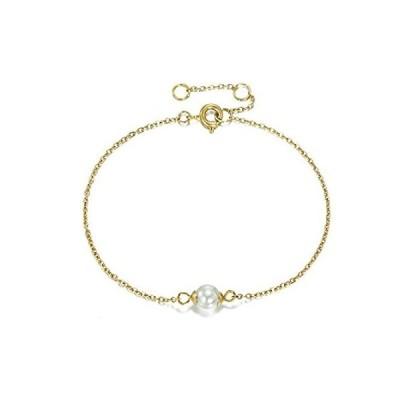 特別価格BUREIレディースシンプルブレスレットゴールデン人気パールペンダント女性ブレスレット好評販売中