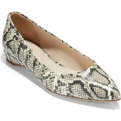 コールハーン COLE HAAN レディース スリッポン・フラット シューズ・靴 Brenna Skimmer Flat Snake Print Leather