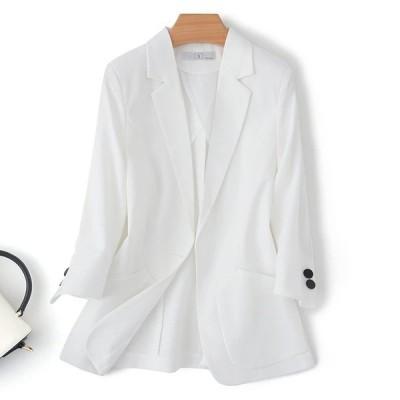 オフィス 通勤風 無地 ポケット 長袖 折り襟 コート アウター