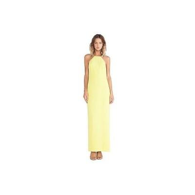 トリーナターク ドレスTRINA TURK レディース'S VINA SOLID HALTER CREPE MAXI ドレス IN KEY ライム 6