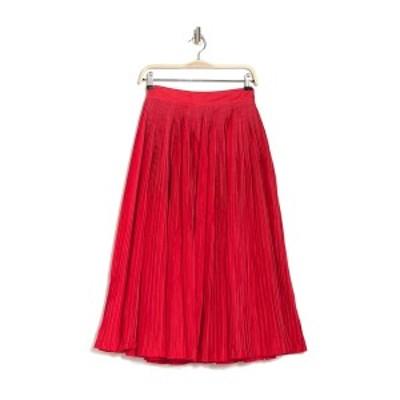 ビリーレイド レディース スカート ボトムス Contrast Stitch Pintuck Skirt RED