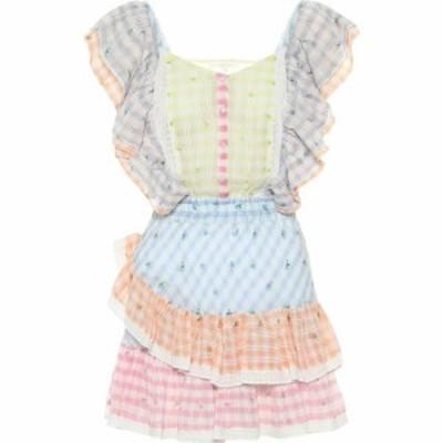 ラブシャックファンシー LoveShackFancy レディース ワンピース ワンピース・ドレス leon cotton minidress Multi Rosebud Check