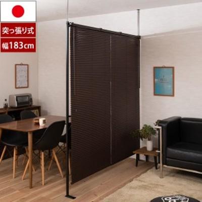 つっぱりブラインドパーテーション 幅183cm ダブルタイプ 日本製 Bright ブライト JJ54-089-NS