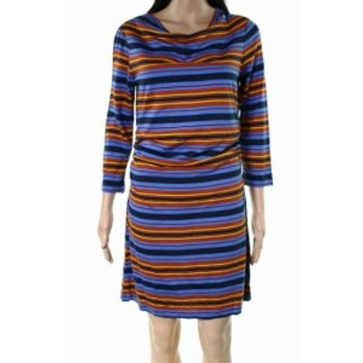 Patagonia パタゴニア ファッション ドレス Patagonia NEW Blue Womens Size Small S Striped Cowl Neck Sheath Dress