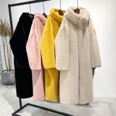 ボリュームファーコート 毛皮コート ファーコート アウター ボアブルゾン フェイクファー もふもふ 暖かい もこもこ レディース 防寒 冬服 大きめ カジュアル