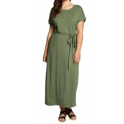 Sanctuary サンクチュアリ ファッション ドレス Sanctuary Womens Dress Green Size XS Belted Slit Tee T-Shirt Maxi