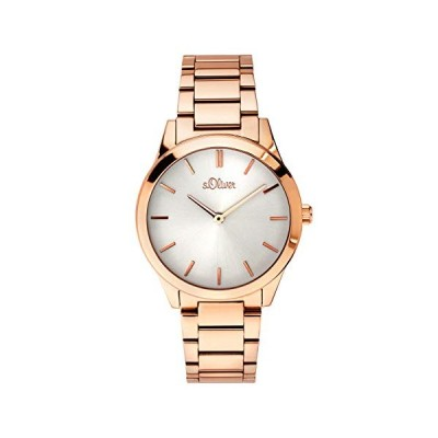 s.Oliver Time Womens Analogue Quartz Watch with Stainless Steel Strap SO-3597-MQ 並行輸入品