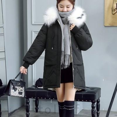 中綿コートレディースダウンコートフードファー防寒あったかいシンプルカジュアル秋冬