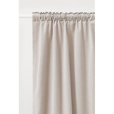H&M - ベルベットカーテン 2枚セット - ブラウン